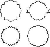 Tappningetiketter och ram för vektor fastställda Arkivbild