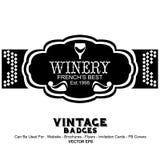 Tappningetiketter - vin Arkivbild