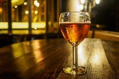 Tappningexponeringsglas av ljust öl Royaltyfri Fotografi