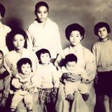 Tappningfamiljfoto Royaltyfri Bild