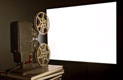 Tappningfilmprojektor arkivbild
