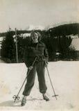 Tappningfoto av kvinnan Arkivfoto