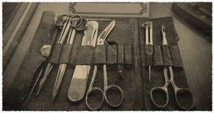 Tappningfoto av medicinska instrument Royaltyfri Fotografi