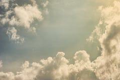 Tappningfoto av skyen Arkivbilder