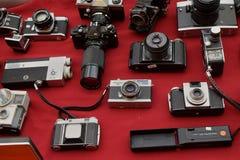 Tappningfoto och videokameror arkivbild