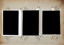 Tappningfotoalbum med tomma foto fotografering för bildbyråer