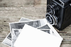Tappningfotokamera och foto Arkivfoton