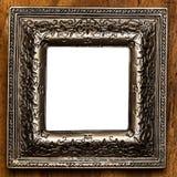 Tappningfotoram över träbakgrund Royaltyfria Bilder