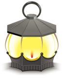 Tappninggatalampa glödande lykta royaltyfri illustrationer