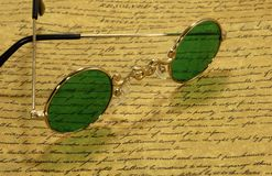 Tappningglasögon arkivbilder