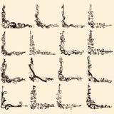 Tappninggränshörn royaltyfri illustrationer