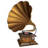 Tappningguldgrammofon Fotografering för Bildbyråer