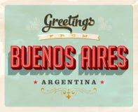 Tappninghälsningar från Buenos Aires, Argentina semesterkort royaltyfri illustrationer