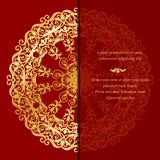 Tappninghälsningkort i östlig stil Royaltyfri Bild