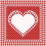 Tappninghälsningkort med hjärta Arkivfoton