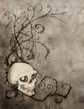 Tappninghalloween bakgrund stock illustrationer