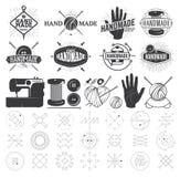 Tappninghand - den gjorda logoen, etiketter, förser med märke Fotografering för Bildbyråer