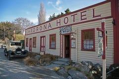 Tappninghotell mellan Wanaka och Queenstown Royaltyfria Foton