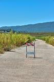 Tappninghuvudväg som inte är passande för medel arkivfoton