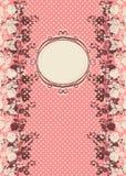 Tappninginbjudankort med rosor Royaltyfria Foton