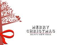 Tappningjulgran, jul och nya år vitbakgrund Royaltyfria Foton