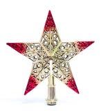 Tappningjulstjärna som isoleras på vit bakgrund Kan förläggas på julträd Goda för julhelgdagsafton och julgåva Arkivbilder