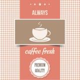 Tappningkaffeaffisch Fotografering för Bildbyråer