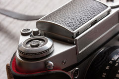 Tappningkamera från 70-talcloseupen Arkivfoton