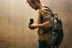 Tappningkamerafotograf Focus Shooting Royaltyfri Bild
