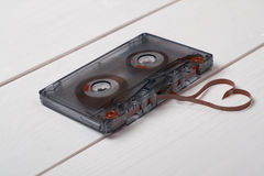 Tappningkassett med bandform av hjärta Arkivbild