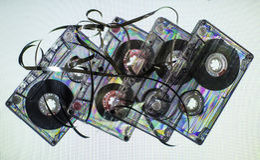 Tappningkassettband Arkivfoto