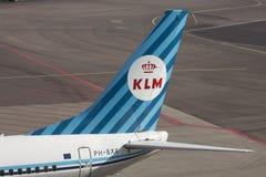 TappningKlM Boeing 737 Fotografering för Bildbyråer