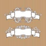 Tappningkombination av banret och ramen Royaltyfri Foto