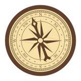 Tappningkompass på kurs för whiebakgrundsvektor stock illustrationer
