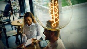 Tappningkula som symboliserar nya idéer Arkivfoto