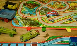 Tappningleksaker Toys för pojkar retro toys Retro effekt Royaltyfri Foto