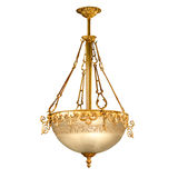 Tappningljuskrona som isoleras på vit Royaltyfri Fotografi