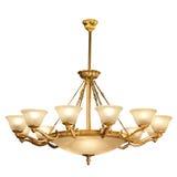 Tappningljuskrona som isoleras på vit Royaltyfria Foton