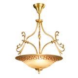 Tappningljuskrona som isoleras på vit Royaltyfria Bilder