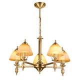 Tappningljuskrona som isoleras på vit Royaltyfri Foto