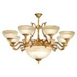Tappningljuskrona som isoleras på white Royaltyfri Fotografi