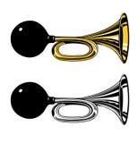 Tappninglufthorn med den rubber kulan Fotografering för Bildbyråer