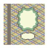 Tappningmall, konstverk med tartan och Arabesque Stock Illustrationer