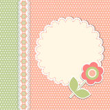 Tappningmall med blomman Royaltyfria Bilder