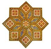 Tappningmodell som göras av forntida väggtegelplattor Arkivfoton
