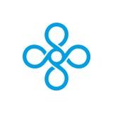 Tappningmonogram Logo Template vektor Arkivfoton