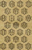 Tappningmonogrammodeller Royaltyfri Fotografi
