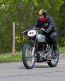 Tappningmotorbike Norton ES2 från royaltyfria bilder