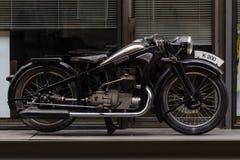 Tappningmotorcykel Zuendapp K200, 1933 Arkivbild