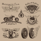 Tappningmotorcykeletiketter Royaltyfri Bild